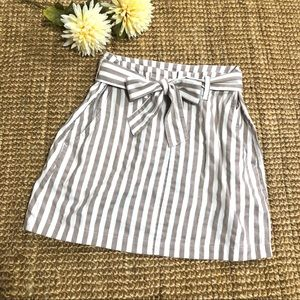 Indigo Rein Striped Bag Skirt